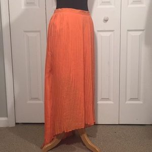 Forever 21 High-Low Coral Orange Maxi Skirt